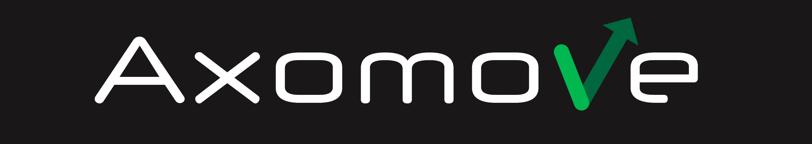 Logo Axomove blanc sur fond noir