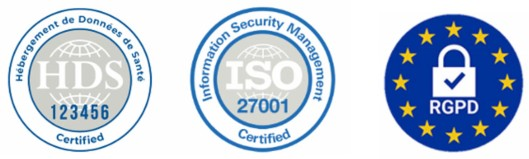 logo certificat HDS et RGPD