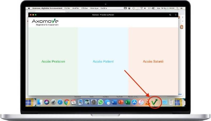 Axomove est installé sur Mac, vous pouvez la retrouver dans le Launchpad