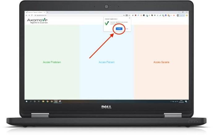 """Pour installer Axomove sur votre pc, cliquez ensuite sur """"installer"""""""