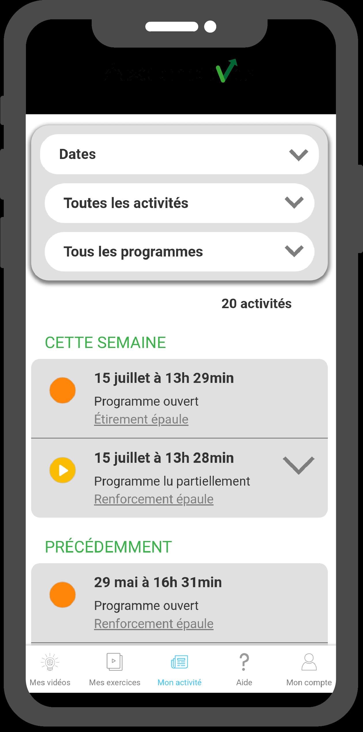 screen-application-axomove-suivi-activite-patient-programme-exercice